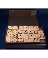 Dominoes Game Cardinal Case Box 53 Tiles White ... - $15.79
