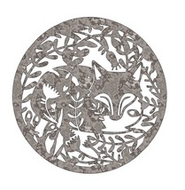 Fox Picture - Unfinished Plasma Cut Metal Home Decor CSTR5-M - £10.59 GBP+