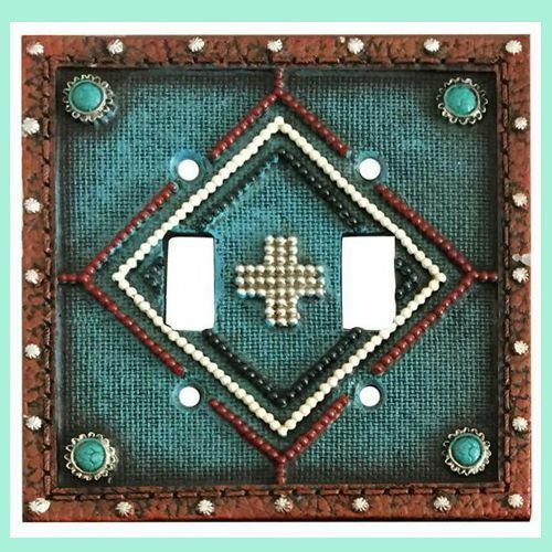 Montana West Double Wall Switch Turquoise Leather Look NEW!
