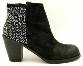 Carlos By Carlos Santana Driskill Women Ankle Booties Size US 5.5M Black Leather - $20.55