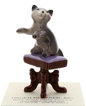 Hagen-Renaker Miniature Ceramic Figurine Keyboard Cat on Bench