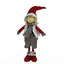 "Northlight 13.5"" Young Boy Gnome in Faux Fur Vest Christmas Tabletop Dec... - £9.58 GBP"