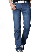Men's fashion classic wash jeans image 10