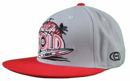 Gold M.V.P. Grey Red Fast Life Speedboat Starter Snapback Baseball Cap Hat NWT image 2
