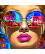 Shades Of Ocean Drive Painting by Marc Rudinsky - $1,350.00+