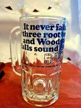"Vintage SNOOPY Woodstock Peanuts ""Too Much Root Beer"" GLASS DRINKING MUG 1965 image 6"