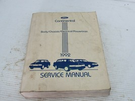 1992 Lincoln Continental Body Chassis Electrical Powertrain Shop Repair ... - $19.75