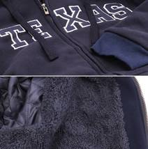 Men's Texas Embroidered Sherpa Lined Warm Zip Up Fleece Hoodie Sweater Jacket image 13