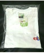 Mens Hanes Beefy T Pre-Shrunk EBAY White Short Sleeve Shirt LARGE 42-44 NIP - $21.31
