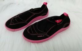 Girls Sz 11-12 XL Speedo Water Slip Ons Shoes Pink Black  B301 - $6.00