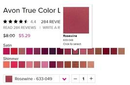 "Avon True Color Lipstick ""Rosewine"" - $6.25"