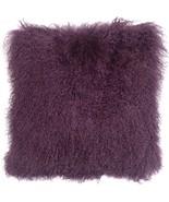 Pillow Decor - Mongolian Sheepskin Purple Throw Pillow - $74.95