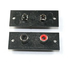 RCA 1 x Red/Black Jack Connector Panel - Lot of 5  ( 28J072 ) - $7.55