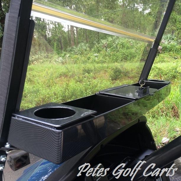 Golf Cart Dash Tray Organizer Universal Carbon Fiber Club