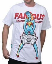 Famous Stars & Straps Mens Black or White My Radio Boombox Girl T-Shirt NWT image 5
