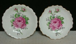 """2 Adderley China Staffordshire 4 3/4"""" PIN TRINKET DEMI SAUCER DISHES Pin... - $11.63"""