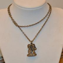 vintage Precious Moments pendant chain necklace Signed 1981 Nesco Jonath... - $9.89