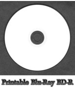 25x Blank White Inkjet Printable Blu-Ray BD-R Disc Full Face (6x 25GB 13... - $29.59