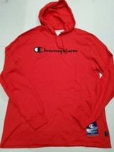 NWT Champion Men's Red Lightweight Script Hoodie Sweatshirt Large New Wi... - $39.59