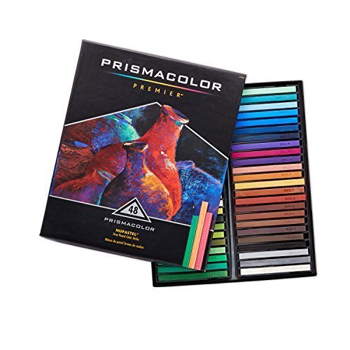 Prismacolor 27051 Premier NuPastel Firm Pastel Color Sticks, Box of 48 Color Sti