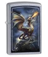 Zippo Lighter: Anne Stokes Dragon on Mountain - Street Chrome - $28.45
