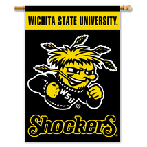 Wichita State Shockers 28 X 40 Premium 2-Sided Banner With Pole Sleeve  - $37.95