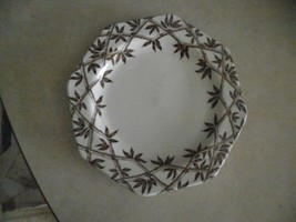 J & G Meakin Trellis Brown desert plate 1 available - $2.23