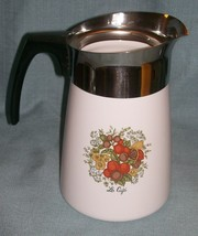 Vintage Corning SPICE OF LIFE Stove Top 6 Cup Coffee Pot / Percolator -P146 VGUC image 2