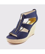 Michael Michael Kors Damita Wedge Open Toe Canvas Wedge Sandal/Various Size - $59.99