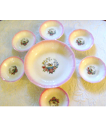 Six Vintage French China Company Pheasant Berry Bowls & Large Vegetable ... - $12.00