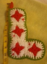 "Hand made Knitted Christmas Ornament Decoration • letter ""L"" • Pre-owned... - $15.79"