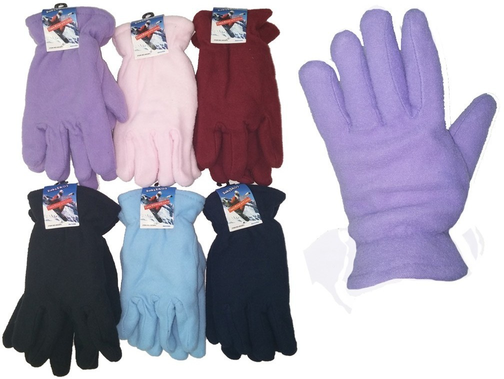 Case of [24] Women's Fleece Lined Gloves