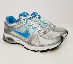 Nike Zoom Moto 9 Running Shoes Size 7.5 White Blue Mesh Laces Sneakers W... - $22.33