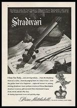 Prince Matchabelli Stradivari Perfume Music Score Violin 1944 Perfume Ad - $14.99