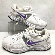 Nike Dart Running Shoes Womens Size 8 White Purple Silver Model# 443868-... - $22.58