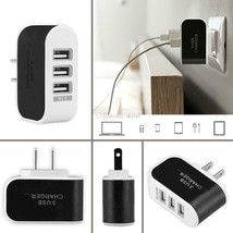 Wall Charger 5V 3.1A LED Traverl Adapter With Triple USB Ports US (lot o... - $21.78