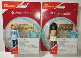 2 New American Girls Mini Dolls FDY93 FDY94 Mega Construx - $22.76