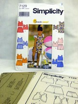 Simplicity 7129 Six Easy Sew Childs Top & Shorts - $6.30