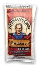Newman's Own Lite Raspberry Vinaigrette Dressing , 1.5 oz packets, Pack of 25 Po