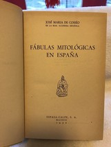 Fabulas Mitologicas En Espana-HB-(mythological Fables)-book - $35.00