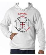 TEMPLAR-NON NOBIS DOMINE .. 012 - NEW COTTON WHITE HOODIE - $38.79