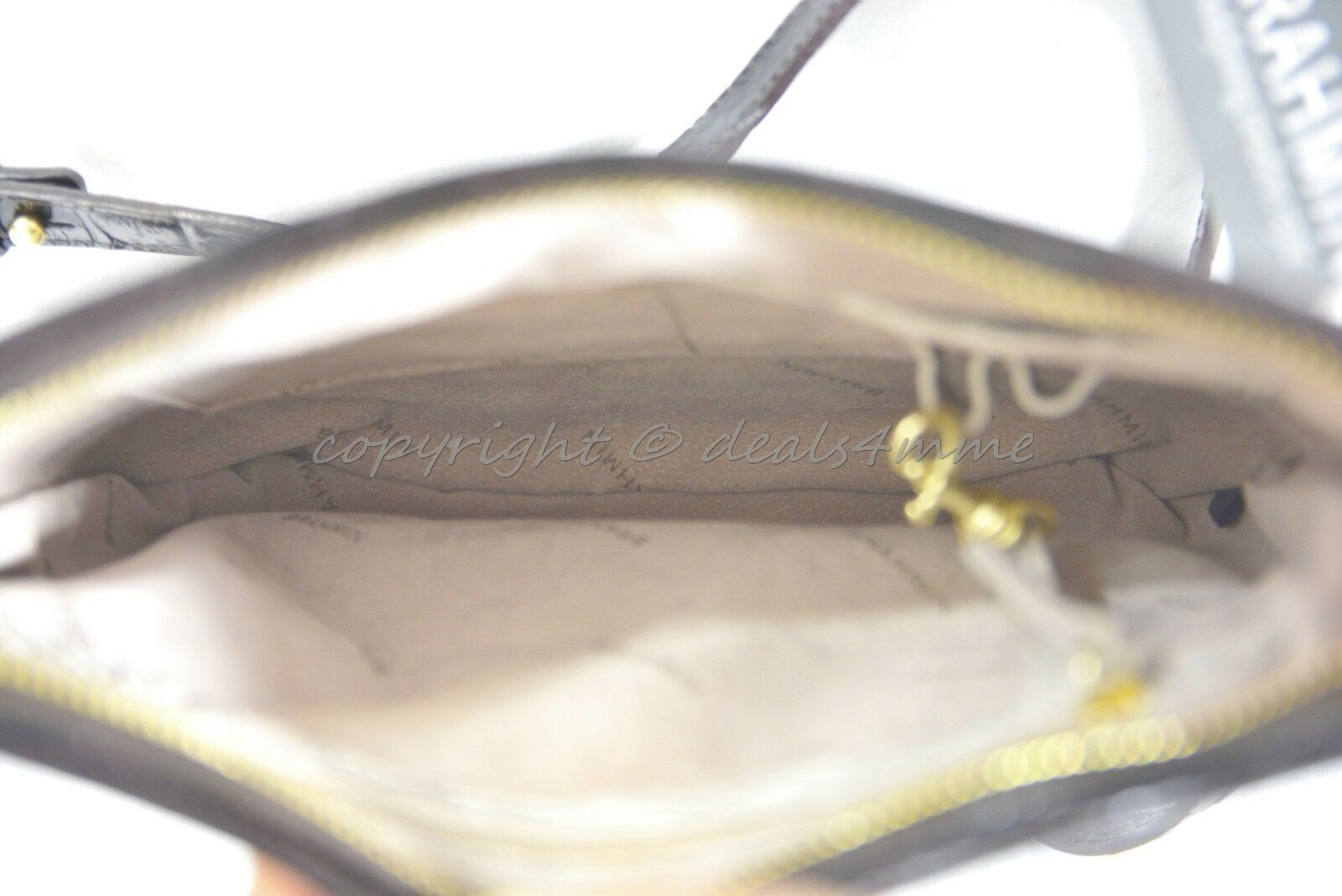 NWT Brahmin Jody Striped Cross-Body/Shoulder Bag in Angora Vineyard image 9