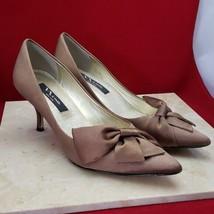 Nina Brown Satin Bow Heels Size 7.5 - $19.99