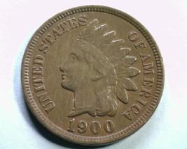 1900 S1 Last 0/0 (Ne) Indian Cent Penny About Uncirculated+ Au+ Nice Original - $95.00