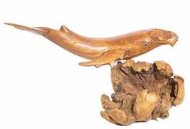 """WorldBazzar Hand Carved 8"""" Humpback Gray Single Whale Table Top Carving Sculptur - $19.74"""