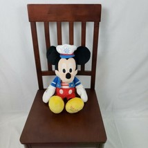 "Disney Talking Mickey Mouse 19"" Sailor Plush Toy Exclusive 2009 Holiday - $9.89"