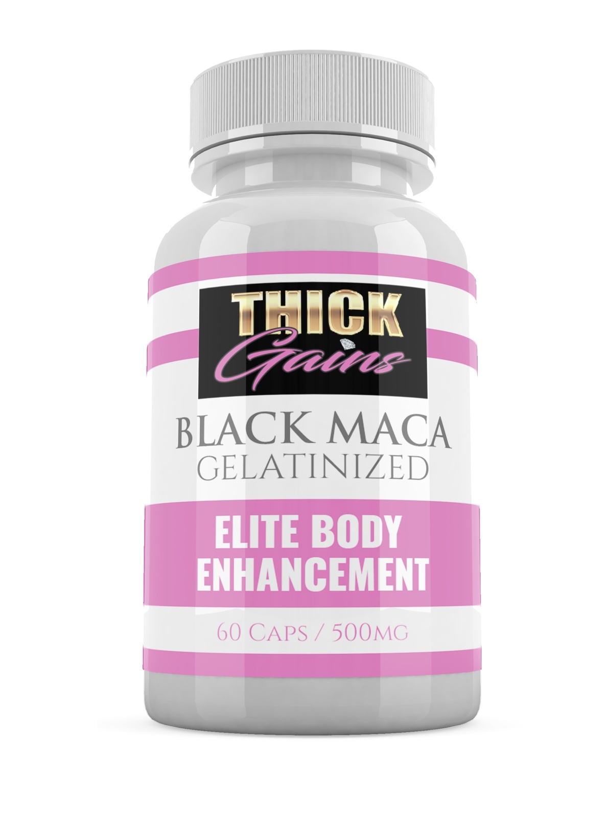 Primary image for MACA Black Gelatinized by Thick Gains Bigger Booty Enhancement Pills Capsules