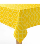 """New Sonoma Indoor / Outdoor All Weather Tablecloth Yellow 70"""" Round Umbr... - $29.99"""