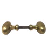 Antique set of Oval Solid Brass Oval Door Knobs Restoration Hardware - $35.99