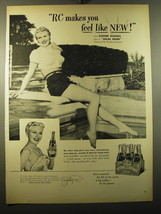 1950 RC Royal Crown Cola Advertisement - Ginger Rogers - $14.99